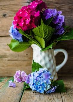 Flores de hortensia