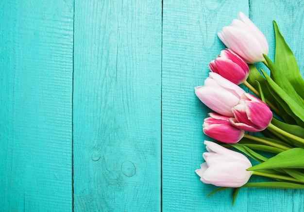 Flores de tulipán de primavera