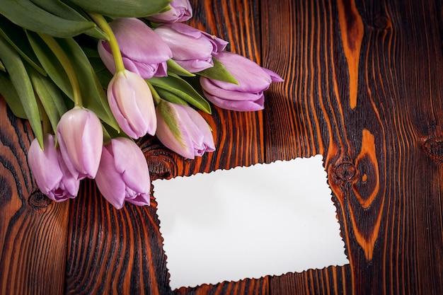 Flores de tulipanes morados