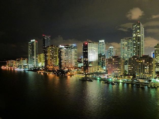 Florida horizonte miami noche nubes