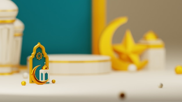Fondo 3d eid mubarak