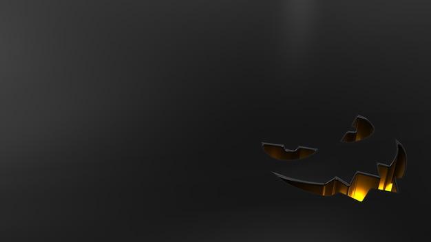 Fondo 3d de halloween con calabazas