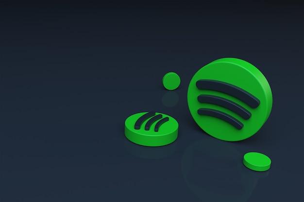 Fondo 3d del icono de spotify