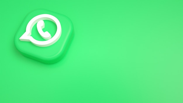 Fondo 3d mínimo del logotipo de whatsapp