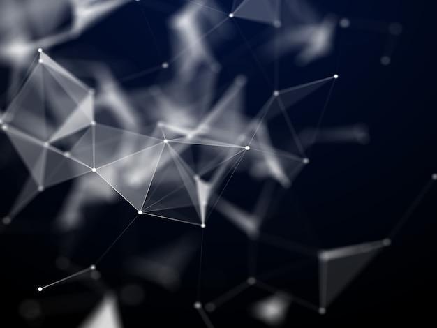 Fondo abstracto en 3d con líneas de baja poli