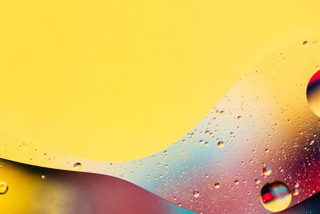 Fondo abstracto de aceite y agua inmiscibles