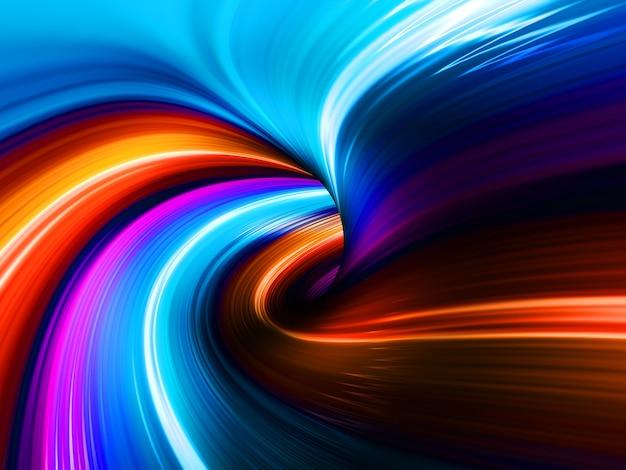 Fondo abstracto del agujero del túnel del remolino colorido