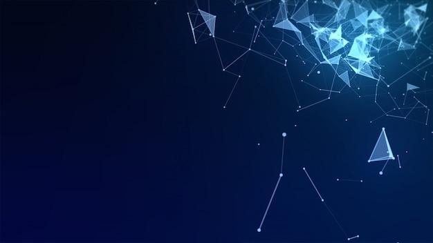 Fondo abstracto de alta tecnología de polígono bajo