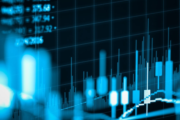 Fondo abstracto del análisis financiero de la bolsa de valores.