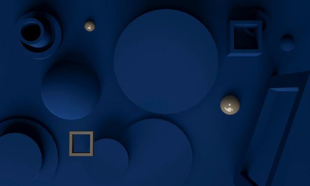 Fondo abstracto azul 3d