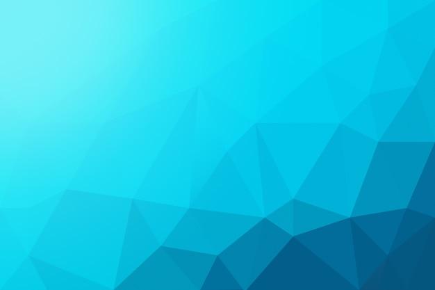 Fondo abstracto azul cian poli baja.