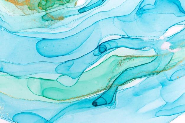 Fondo abstracto azul de tinta de alcohol. textura de acuarela.