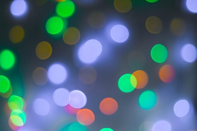 Fondo abstracto bokeh circular de luz de navidad