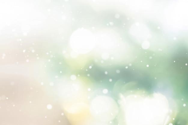 Fondo abstracto brillante bokeh con nieve