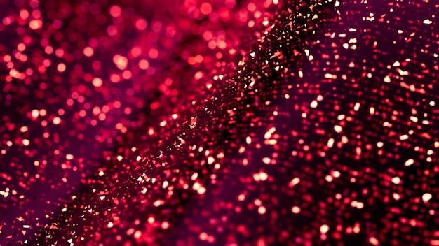 Fondo abstracto de brillo, chispas púrpuras y reflejos. ilustración 3d, renderizado 3d.