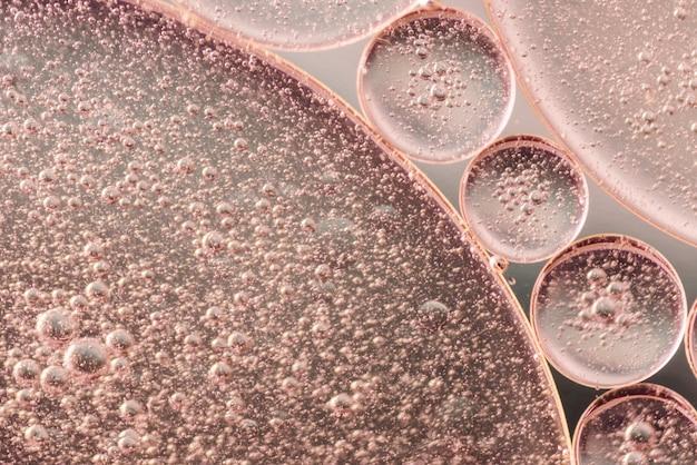 Fondo abstracto burbujeante rosado y marrón suave