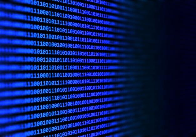 Fondo abstracto de código binario