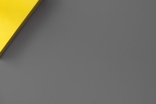Fondo abstracto en colores de tendencia del año 2021. iluminante y ultimate gris, concepto de minimalismo. endecha plana