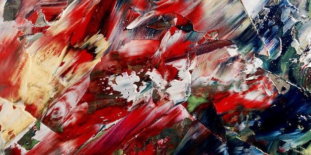 Fondo abstracto colorido pintura al óleo sobre lienzo