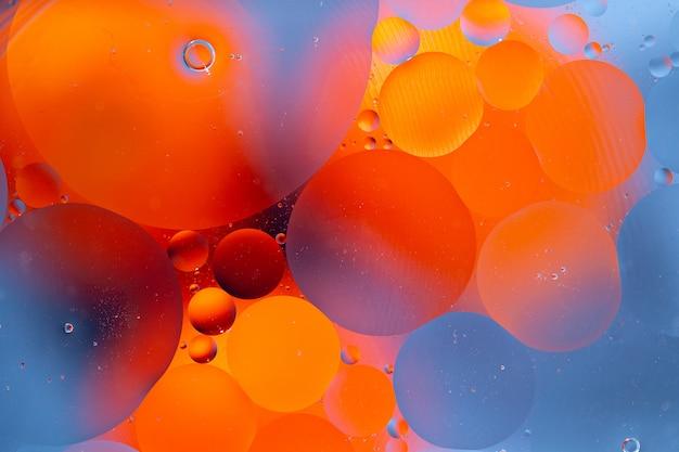 Fondo abstracto como resultado de una mezcla de agua y aceite