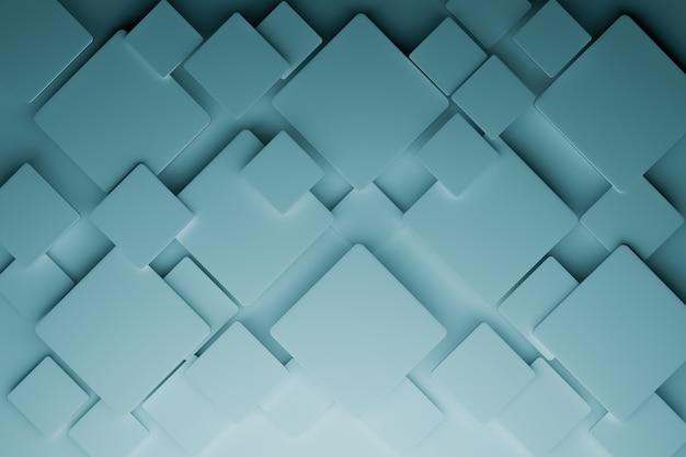 Fondo abstracto de cubo 3d, renderizado de ilustraciones 3d