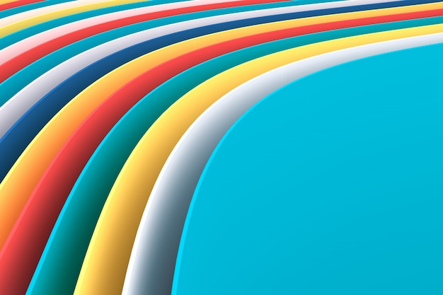 Fondo abstracto con curvas de colores