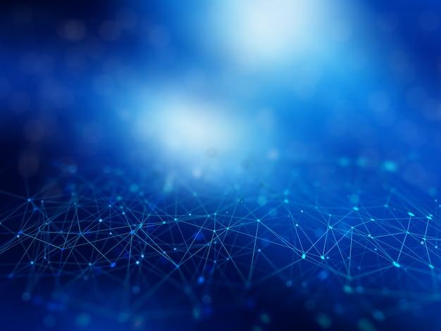 Fondo abstracto de conexiones de red