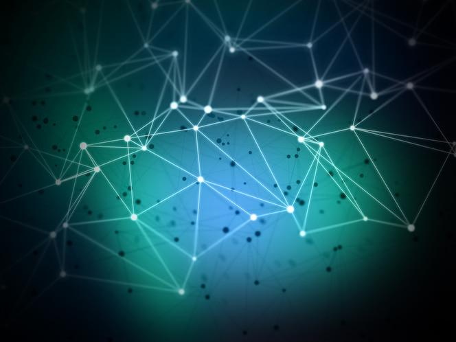 Fondo abstracto de líneas y puntos de conexión