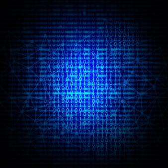 Fondo abstracto del código binario