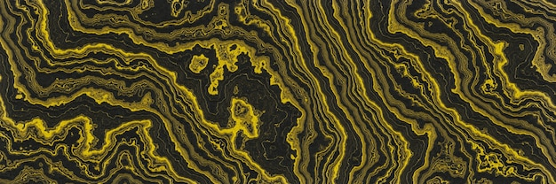 Fondo abstracto dorado y negro