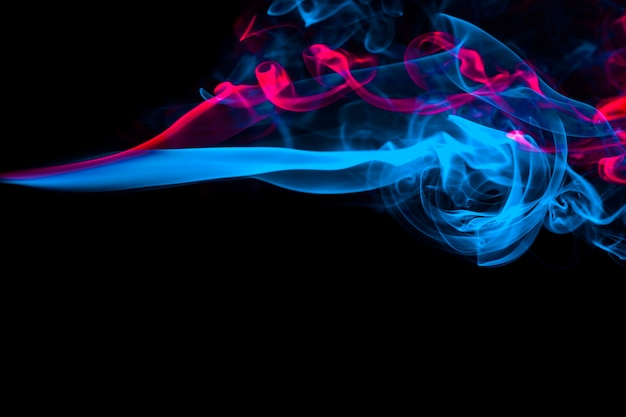 Fondo abstracto de efecto de luz azul y rosa