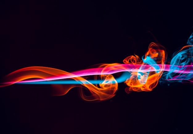 Fondo abstracto de efecto de luz de humo