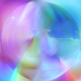 Fondo abstracto de esfera de cristal blanco sobre fondo de formas duras coloridas borrosas