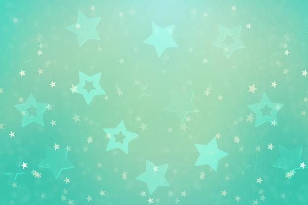 Fondo abstracto festivo con estrellas azules.