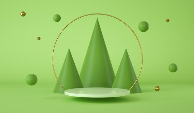 Fondo abstracto con un fondo moderno de podio
