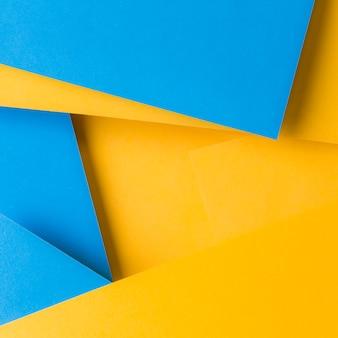 Fondo abstracto de fondo de papel de textura azul y amarillo