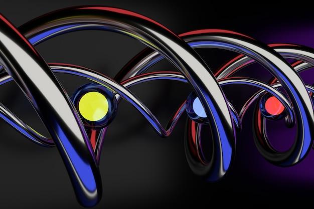 Fondo abstracto de forma geométrica. diseño de fondo 3d. representación 3d.