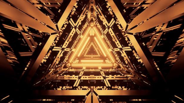 Fondo abstracto futurista fresco con luces de neón