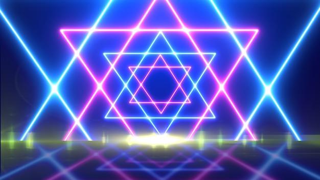 Fondo abstracto de líneas brillantes. luces de neón