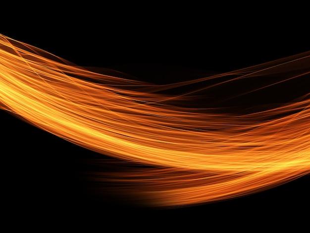 Fondo abstracto de líneas fluidas ardientes