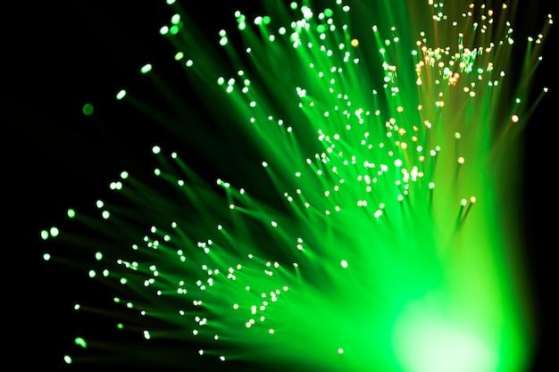 Fondo abstracto de luces de fibra óptica