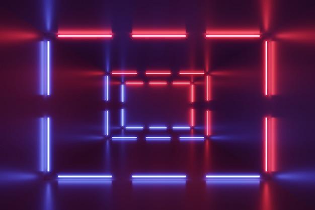 Fondo abstracto de luces de neón.
