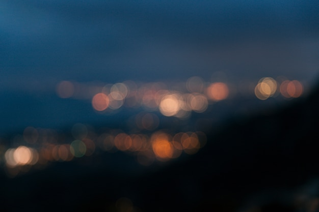 Fondo abstracto de luces suaves bokeh