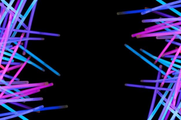 Fondo abstracto luz de neón