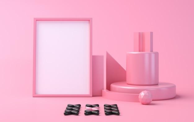 Fondo abstracto minimalista, figuras geométricas primitivas