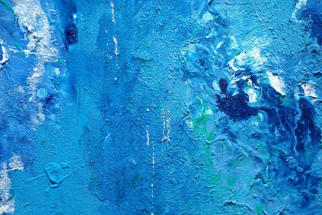 Fondo abstracto natural y textura de la pintura azul.