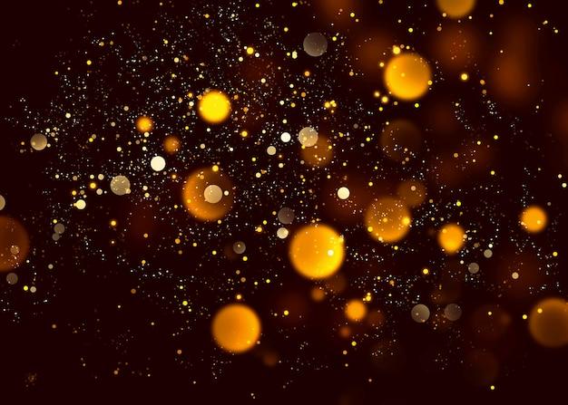 Fondo abstracto de la noche de la chispa del brillo anaranjado del bokeh de halloween