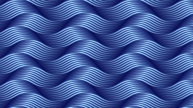 Fondo abstracto ondulado línea azul