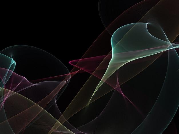 Fondo abstracto oscuro con un resumen olas brillantes
