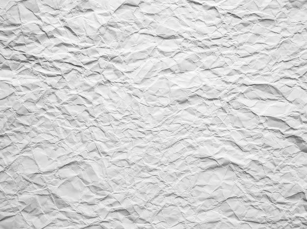 Fondo abstracto de papel arrugado blanco